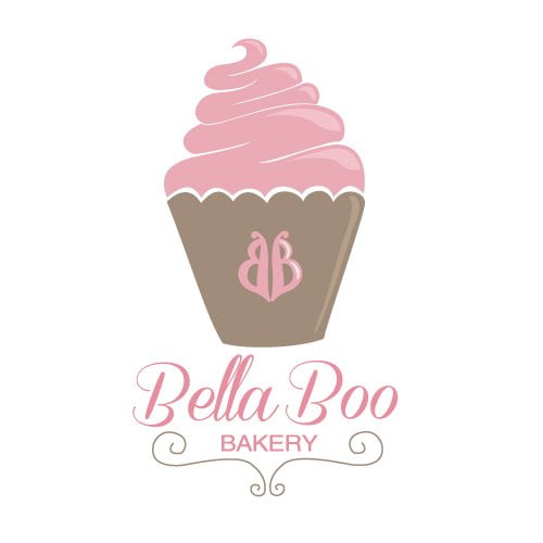 bridget designs bella boo bakery logo design