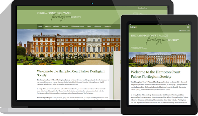 Hampton Court Palace Florilegium Society Custom Wordpress Web Design Kent