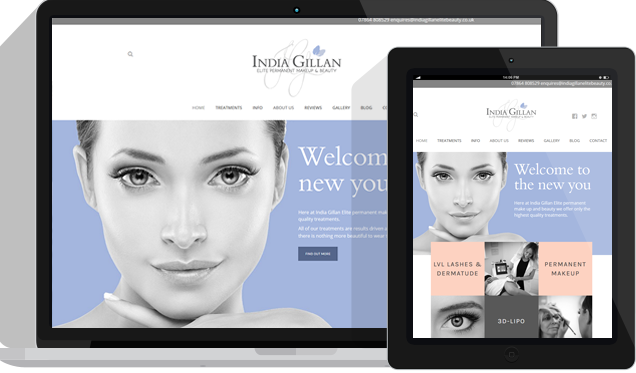 Makeup and Beauty Website Design Kent