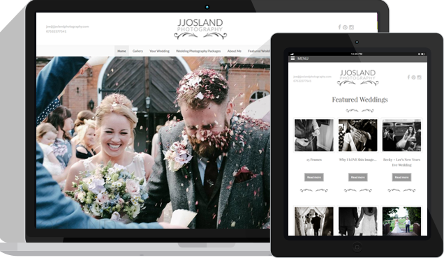 Wedding Photography Web Design Kent London