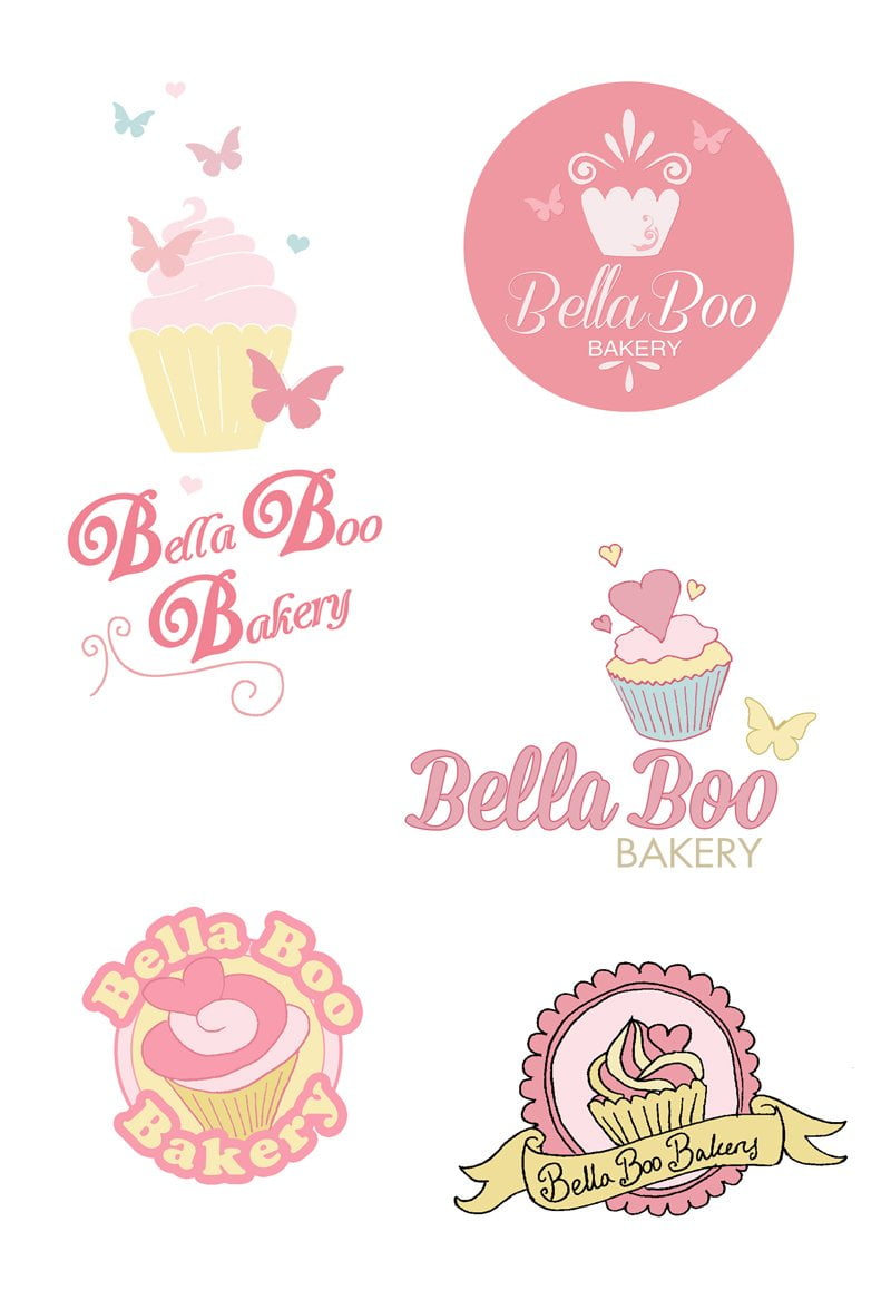 bella boo bakery logo design