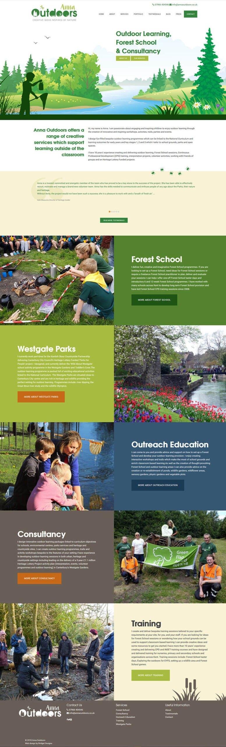 Anna Outdoors Website
