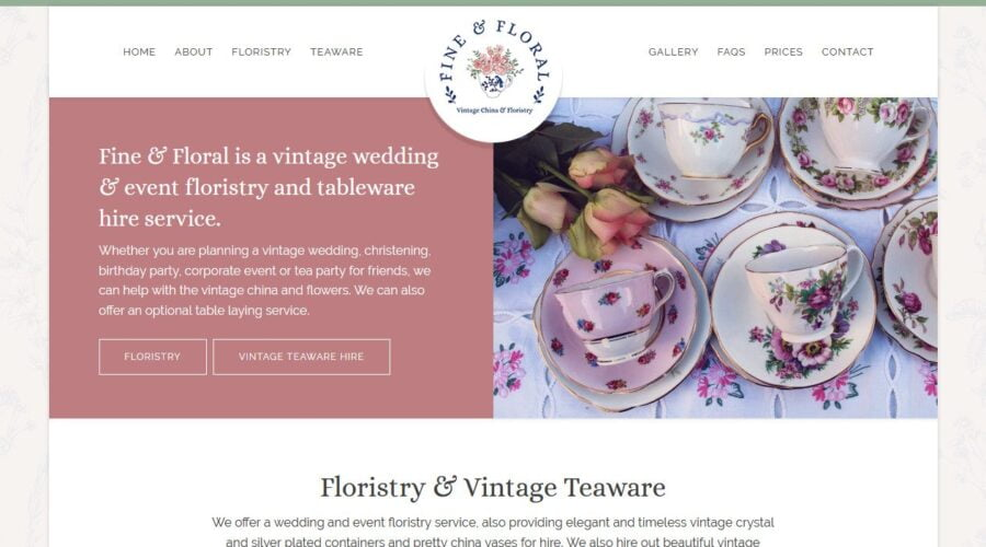 Fine and Floral Website