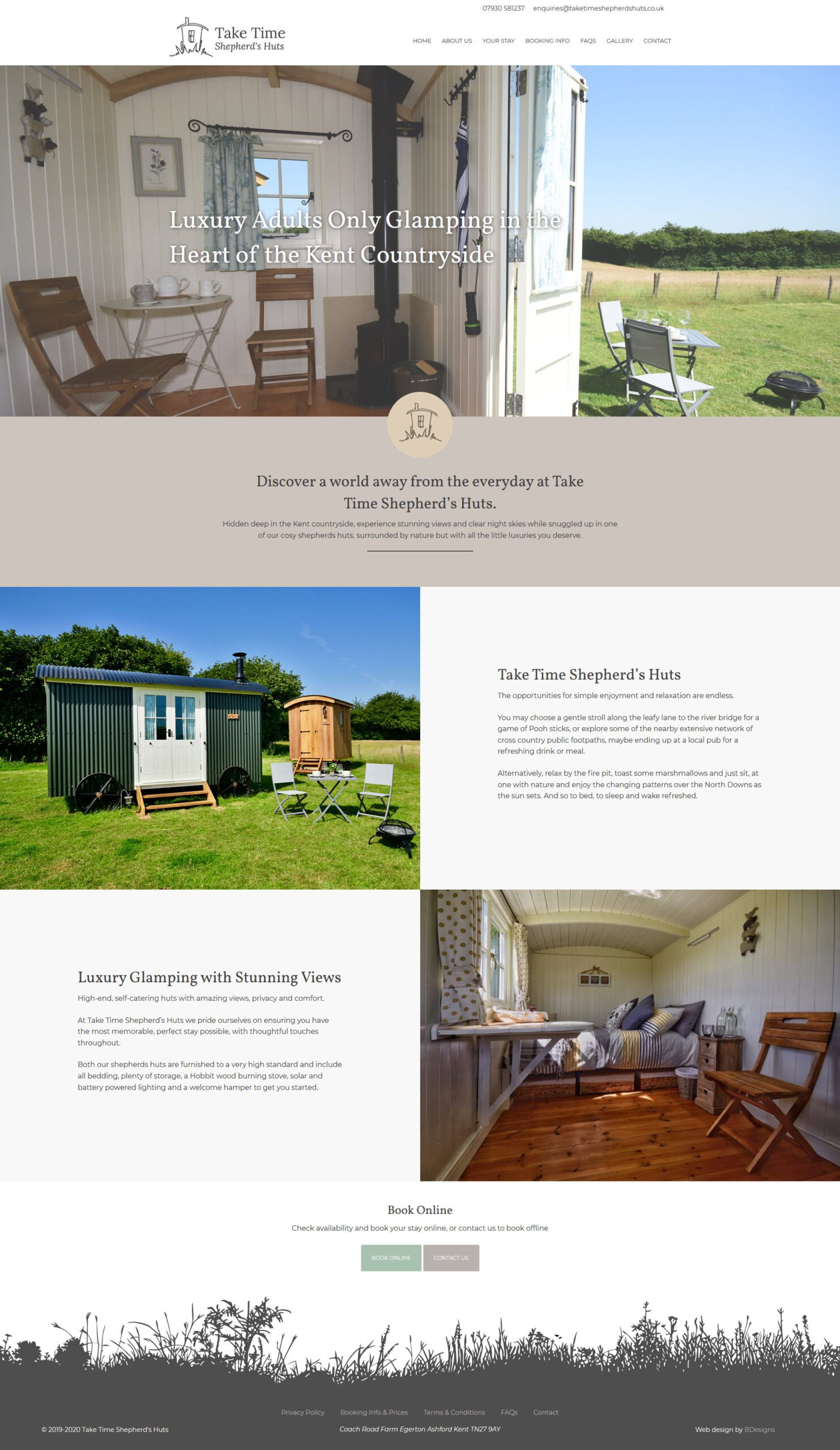 Luxury Adults Only Glamping in Kent Take Time Shepherd's Huts Webbsite