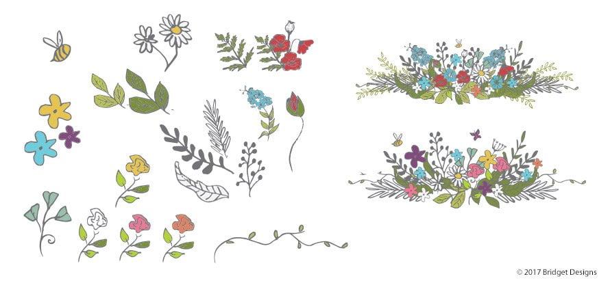 Illustrated Flowers