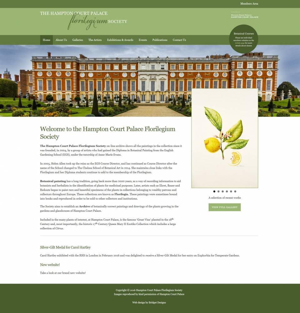 Hampton Court Palace Florilegium Society