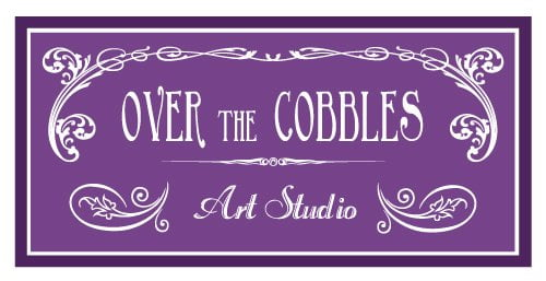 Over The Cobbles Art Studio Business Card