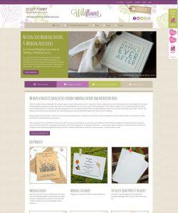 Wildflower Favours Ecommerce website