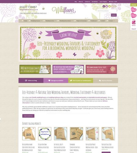 Eccommerce Wildflower Seed Paper Shop