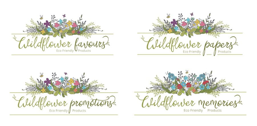 Logo design project for Wildflower Favours