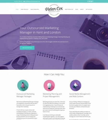 Helen Cox Marketing Website