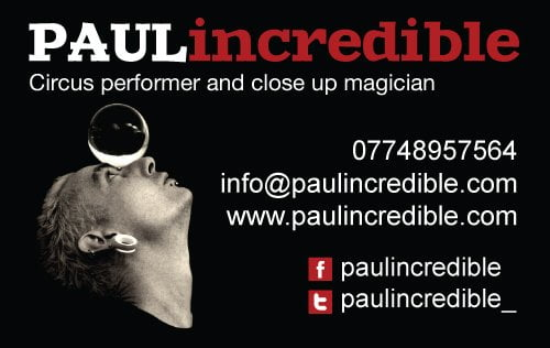 Paul Incredible Business Card