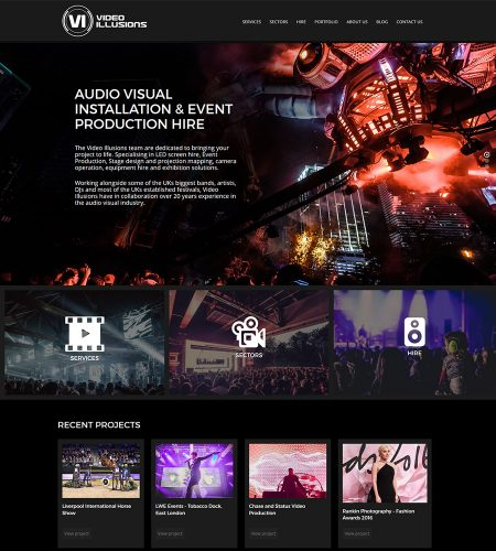 Video Illusions Audio Visual Production Website